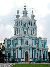 Smolny Convent in Saint Petersburg Russia