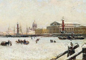Detail of Saint Petersburg in Winter by Alexander Beggrow 1898
