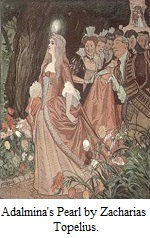 Illustration Ffrom Adalmina's Pearl by Zacharias Topelius - illustrated by Albert Edelfelt