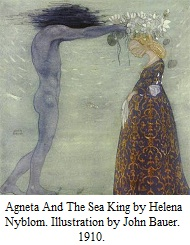 Agneta And The Sea King by Helena Nyblom - illustration by John Bauer 1910