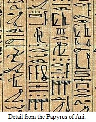 Detail from the Papyrus Of Ani