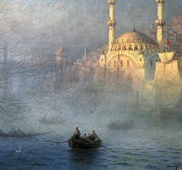 19th c painting of Constantinople by Ivan Aivazovsky