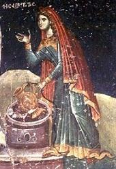 Byzantine fresco c 1310 - Agios Nikolaos Orphanos - Thessalonike - www.macedonian-heritage.gr