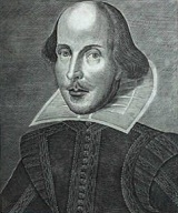 Engraving of William Shakespeare - 1623