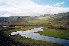 Mongolian steppes - Tariat - photo by Doron via Wikimedia