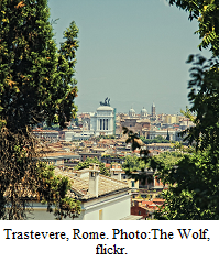 Hill in Trastevere Rome by The Wolf at flickr