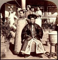 Manchu bride and groom 1900 by James Ricalton via Okinawa Soba at Flickr