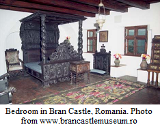 Bedroom in Bran Castle