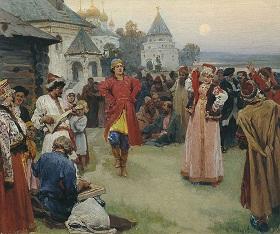 Painting by Klavdiy Lebedev 1900