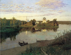 The Evening Bell Tolls by Isaac Ilyich Levitan 1892
