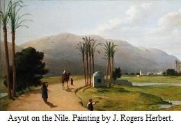Asyut on the Nile - painting by John Rogers Herbert 1873