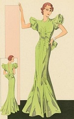 1930s evening gown - New York Public Library digital gallery