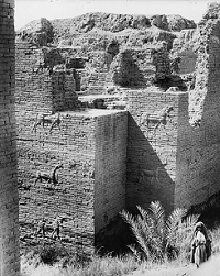 Ishtar Gate - Babylon - Iraq - 1930 - photo via Wikimedia