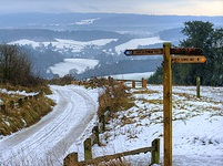 Winter landscape near Guildford - Surrey - photo by Johan J Ingles-Le Nobel