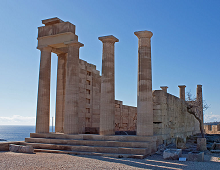 Athena Lindia - Lindos - Rhodes - photo by Wknight94 via Wikimedia