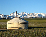 Mongolian ger also known as yurt - photo by Adagio via Wikipedia