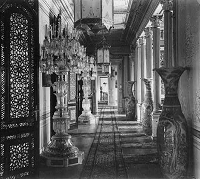 Hallway in Yildiz with the giant chandeliers mentioned in Tears Of Pearl - photo taken c 1890
