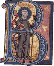 Bernard of Clairvaux - 13th c illuminated manuscript - Wikimedia