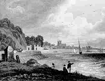 Beaumaris - Anglesey - engraving from circa 1830
