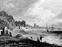 Beaumaris - Anglesey - engraving from circa 1830