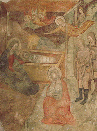 13th-c fresco - San Martino in Pisa - photo by Samuele via Wikimedia