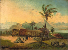 Mauritius huts by M F c 1881
