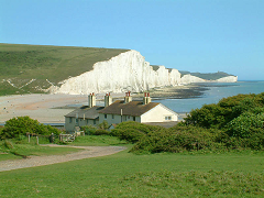 Cuckmere Haven and Seven Sisters- Sussex - England - photo by Stephen Dawson via Wikimedia