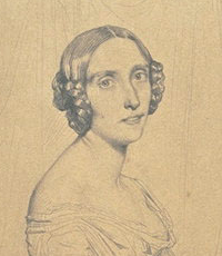 Portrait of Marie d'Agoult drawn by Théodore Chassériau in 1841