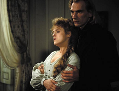 Bernadette Peters as Marie d'Agoult and Julian Sands as Franz Liszt in the 1991 film Impromptu