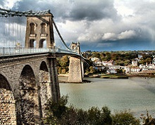 Menai Bridge - Wales - photo by Denis Egan via Flickr