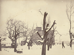 Winter in Kabul - Sherpur Cantonment - photo taken by John Burke in 1879 - via British Library Online Gallery