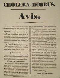 Cholera notice from 1832 - France