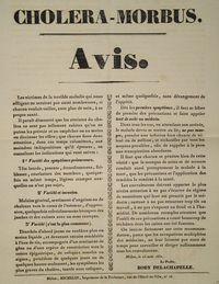 Cholera notice from 1832 - France