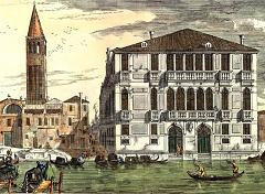 Campo San Samuele with Palazzo Malipiero c 1716 - Venice - image via Wikimedia