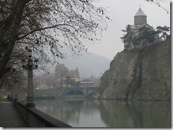 The river Mtkvari at Tbilisi - image by Alaniaris via Wikimedia Commons