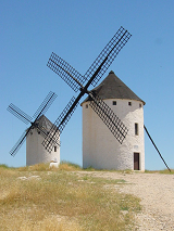 Windmills in Campo de Criptana - Castile Spain - photo by Lourdes Cardenal via Wikimedia