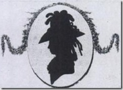 Silhouette of Maria Theresia Paradis - detail of title page of Zwölf Lieder - Leipzig 1786