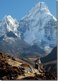 Stupa - Everest trek - Nepal - photo by Andy Hares via Flickr