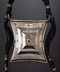 Tuareg silver amulet by Saidi Oumba - from the exhibition Art Of Being Tuareg at Stanford University