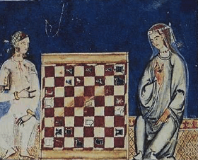 Mediaeval chess players