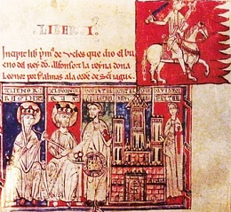 Uclés being granted to the Order of Santiago - 13th century manuscript El Tumbo Menor - image via Wikimedia