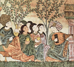 13th c Andalusi manuscript - detail from Hadîth Bayâd wa Riyâd