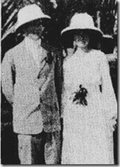 Missionaries H.B. Garlock and Ruth Garlock in Liberia in 1921 - image from The Heritage Newsletter Vol 4 No 2