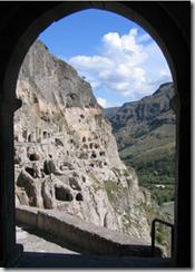 Vardzia cave dwellings- Georgia - photo by Henri Bergius via Wikimedia Commons