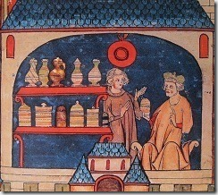 Apothecary shop - Italian 13th c manuscript