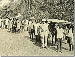 Expedition ready to set out - 1928 - image from Tribes Of The Liberian Hinterland by George Schwab