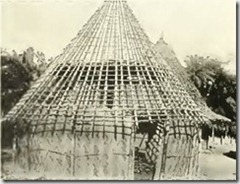 House ready to be thatched - image from Tribes Of The Liberian Hinterland by George Schwab