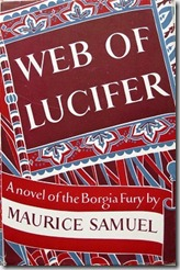 Web Of Lucifer by Maurice Samuel 1947 - photo by Danielle @ The Romantic Armchair Traveller