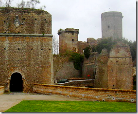 The Borgia castle in Nepi - Italy - detail of photo by Gabriele Delhey via Wikimedia Commons