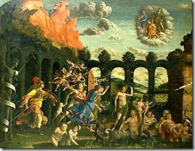 The Triumph of Virtue or Minerva expelling the Vices from the Garden of Virtue - painting by Andrea Mantegna btw 1497-1502 - photo by Lisa_O via Flickr